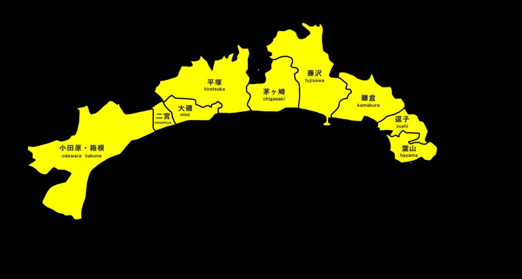湘南のエリアマップ